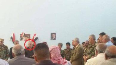 """Photo of اللواء """"جميل الحسن"""" أحد أعتى مجرمي الحرب في سوريا يزور محافظة درعا"""