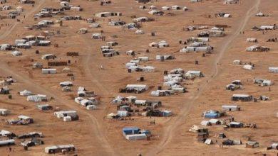 صورة مناشدات من مخيم الركبان لمنظمات المجتمع المدني والأمم المتحدة لنقل الأهالي للشمال السوري