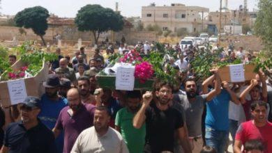 "Photo of تشييع ""شهداء الخندق"" في درعا البلد يتحوّل لمظاهرة تندد بحكم الأسد"