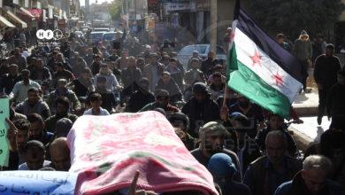 Photo of تشييع قيادي سابق في الجيش الحر يتحوّل إلى مظاهرة بريف درعا الغربي