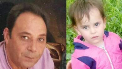 """صورة عم والدة الطفلة الضحية """"ليمار"""" يحمل نظام الأسد مسؤولية قتلها"""