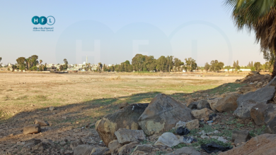"Photo of للمرة الثانية خلال عامين.. ""بحيرة المزيريب"" إلى الجفاف (صور)"